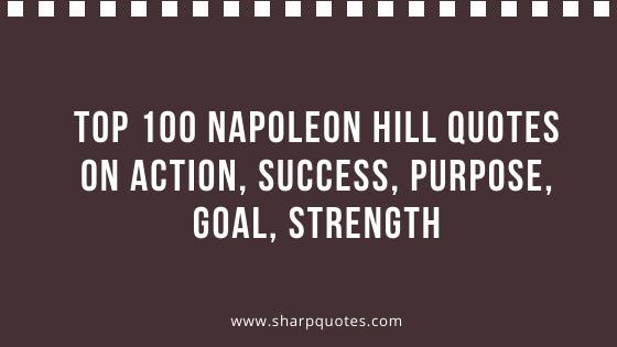 Napoleon Hill Quotes