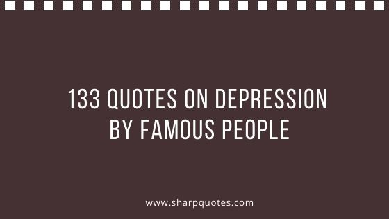 quotes on depression by famous people