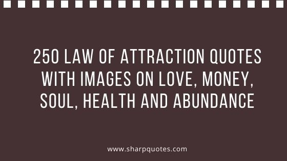 Law of Attraction Quotes on Love Money