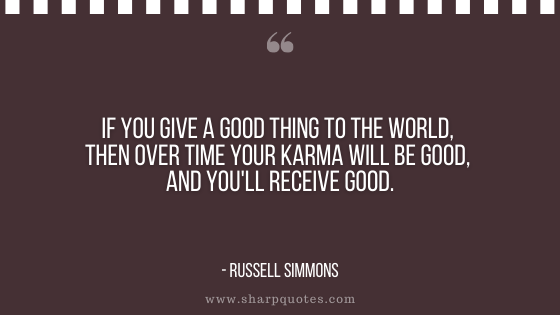 karma quote Russell Simmons