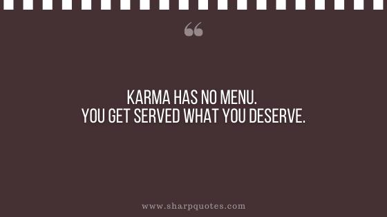 karma quote no menu