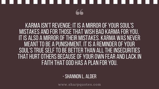 karma quote revenge mirror souls