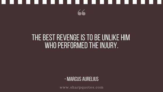 karma quote revenge performed injury marcus aurelius