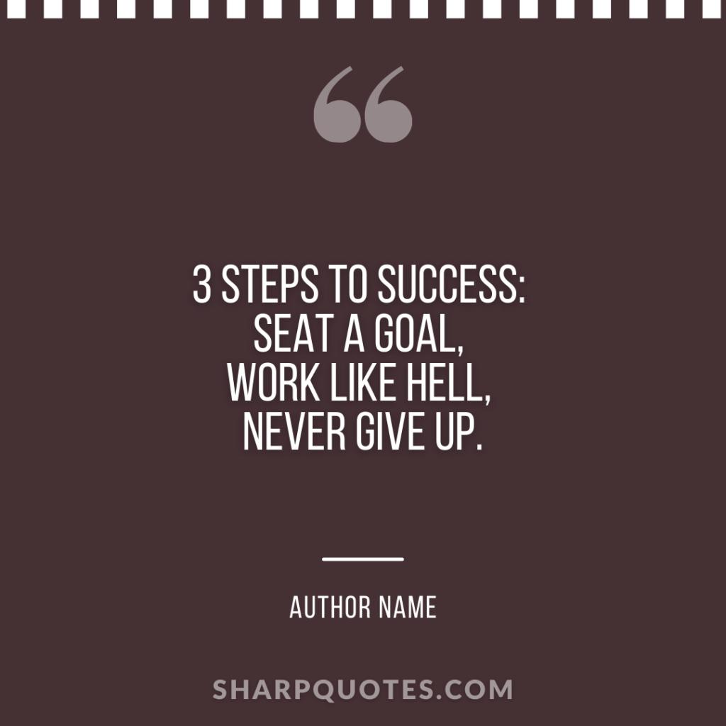 millionaire quote 3 steps success