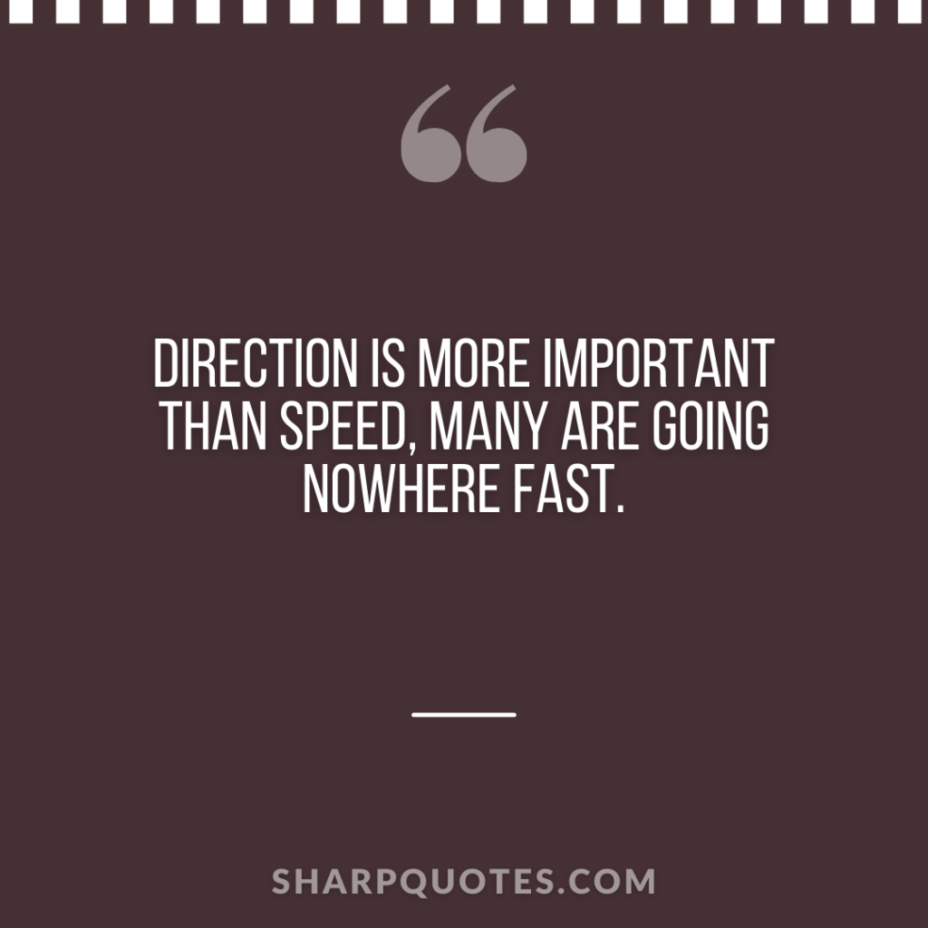 millionaire quote direction speed fast