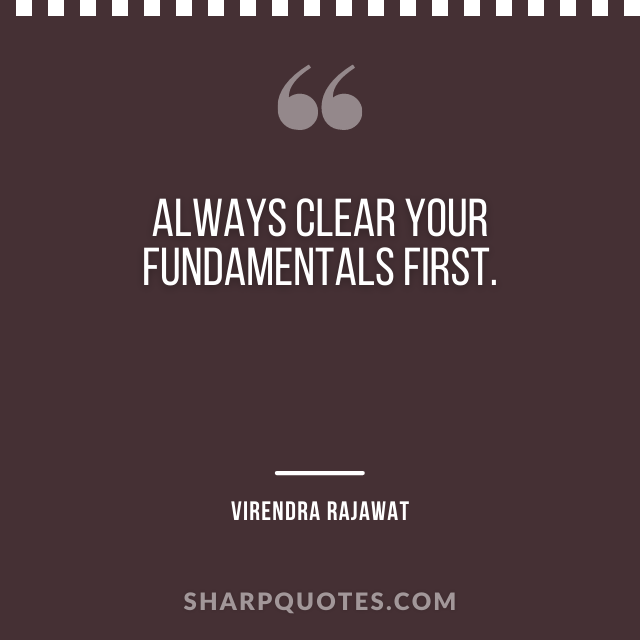 clear fundamentals numerology quote virendra rajawat