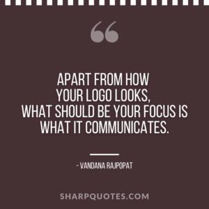 logo design quotes looks focus communicates