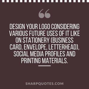 logo design quotes stationery business card
