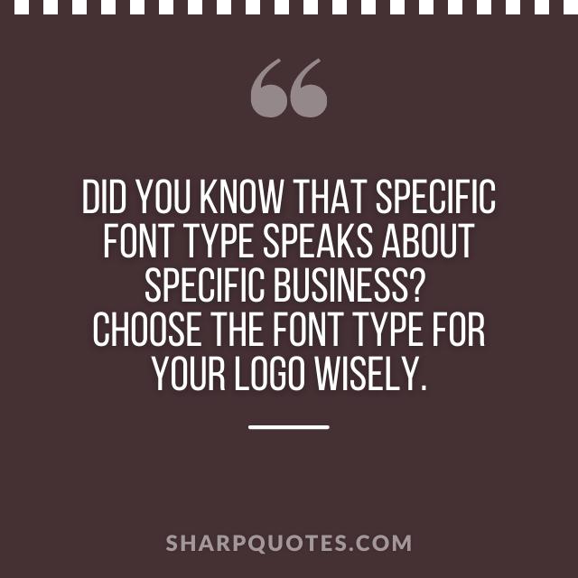 logo design quotes font type