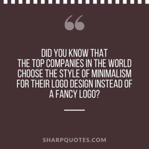 logo design quotes minimalism