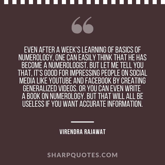 learning numerology numerologist india virendra rajawat