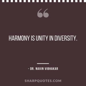 dr navin vibhakar quotes harmony unity diversity