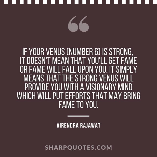 venus strong numerology fame virendra rajawat