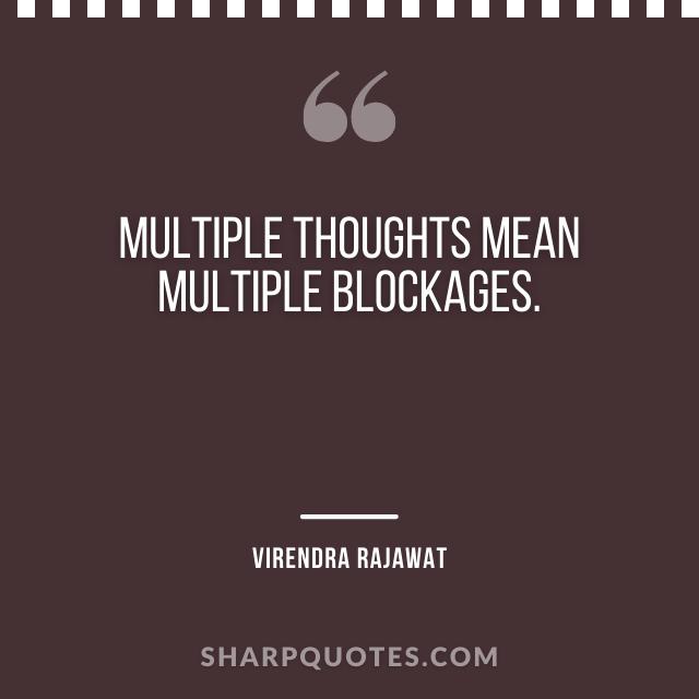 multiple thoughts blockages numerology virendra rajawat