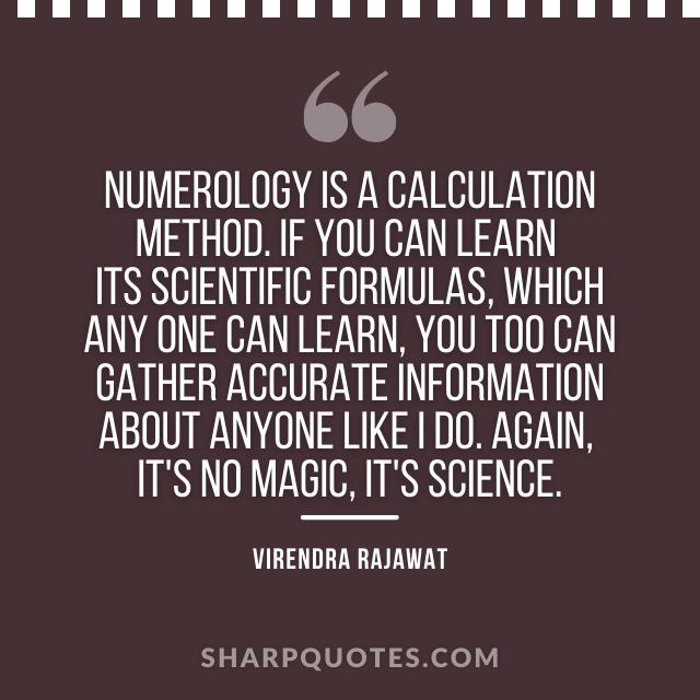 numerology calculation method magic