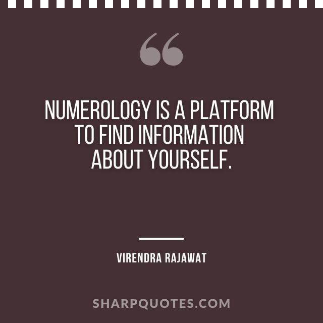 numerology platform information virendra rajawat