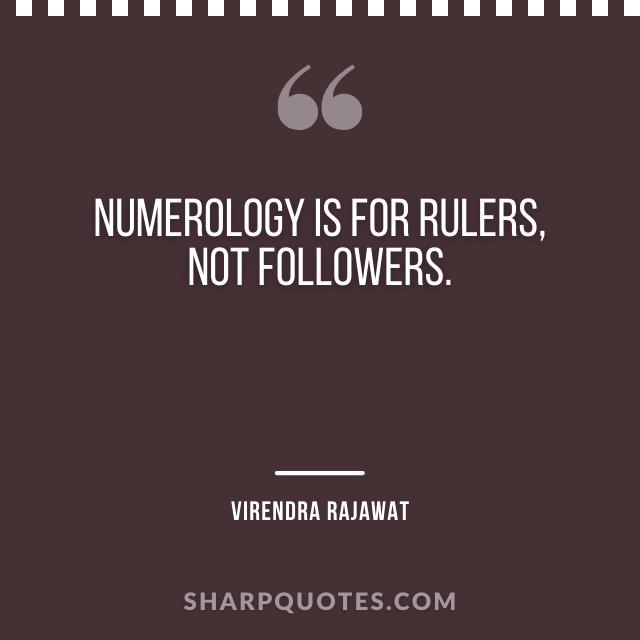 numerology rulers followers virendra rajawat