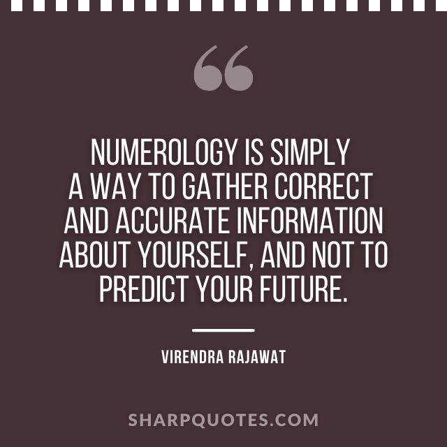 numerology correct accurate information predict future