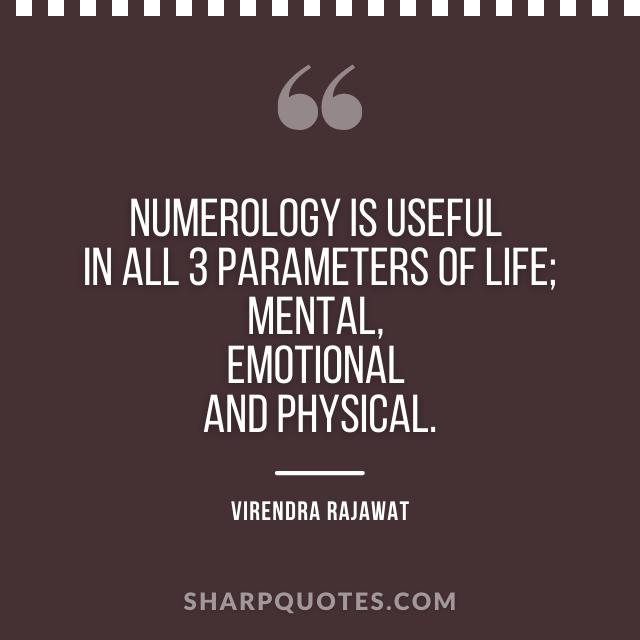numerology life mental emotional physical virendra rajawat
