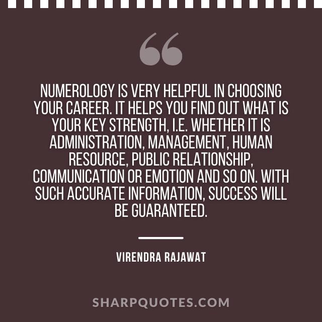 numerology career communication management