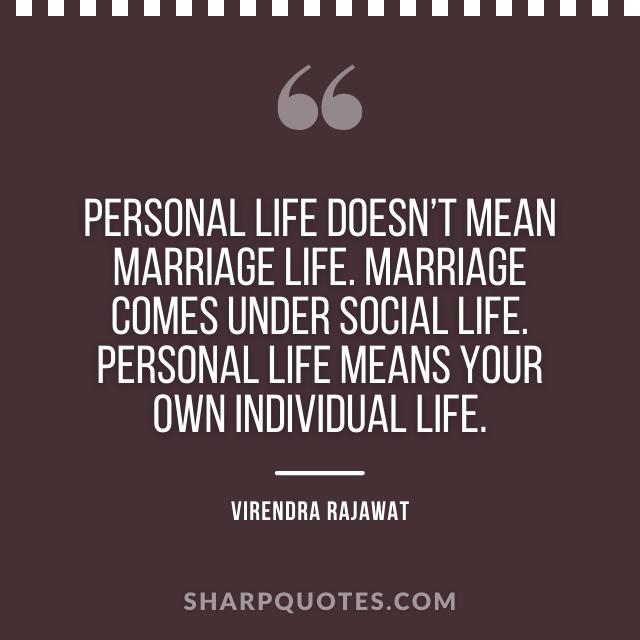 personal life marriage social personal virendra rajawat