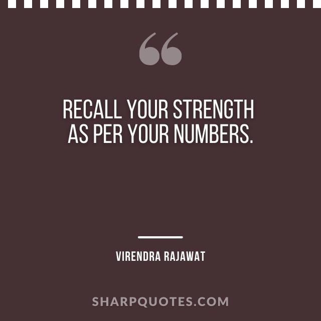 recall strength numbers virendra rajawat