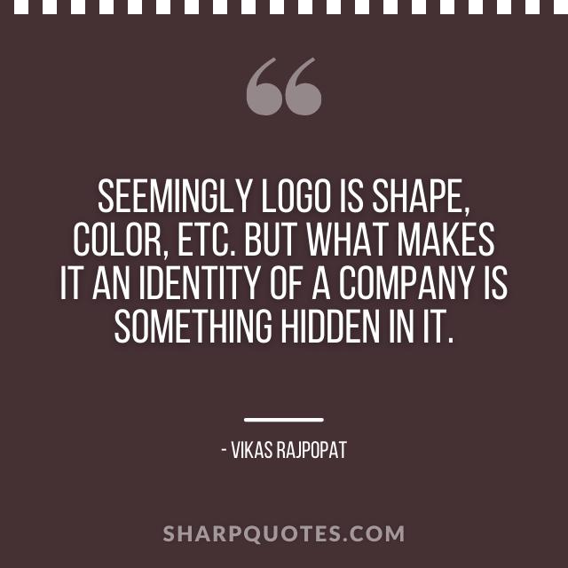 logo design quotes shape identity company