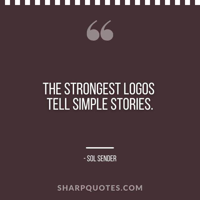 logo design quotes simple stories