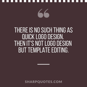 logo design quotes template editing