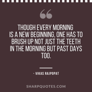 good morning quote new beginning
