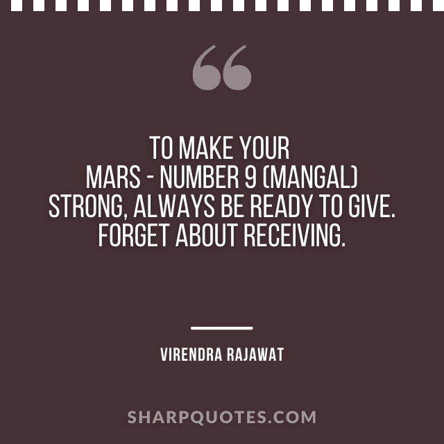 mars strong number 9 mangal virendra rajawat