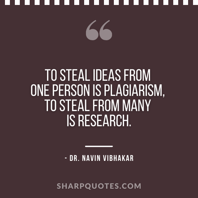 dr navin vibhakar quotes plagiarism research
