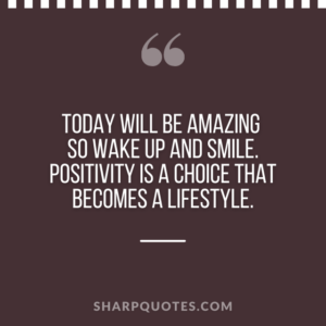 good morning quote today will be amazing