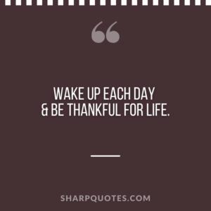 good morning quote wake up thankful