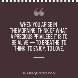 good morning quote arise breathe