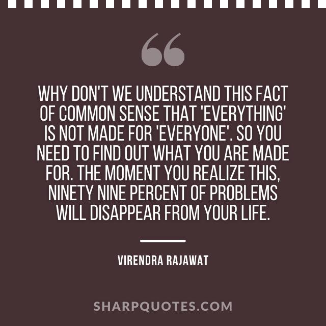 fact common sense virendra rajawat quote