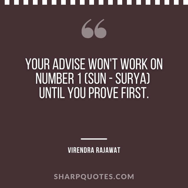 advise number 1 sun surya virendra rajawat