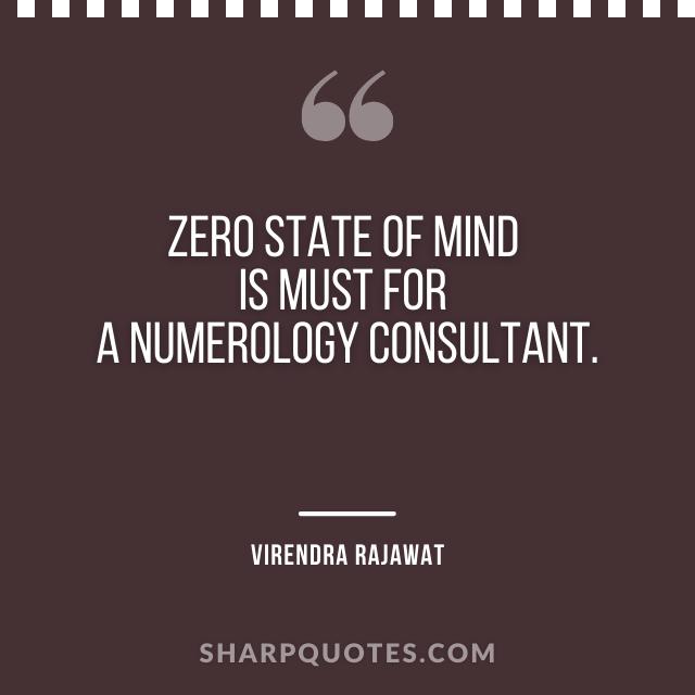 zero state mind numerology consultant virendra rajawat