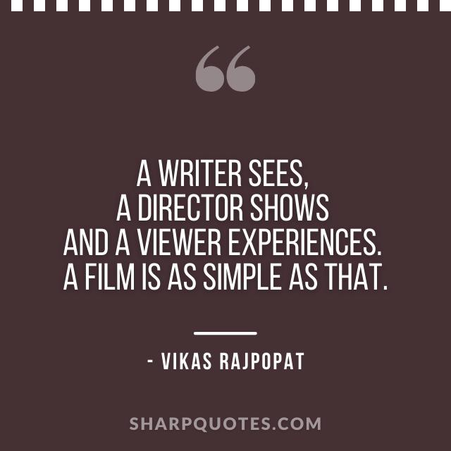 writer director vikas rajpopat