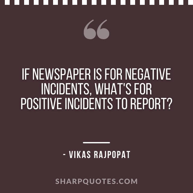 newspaper quote vikas rajpopat