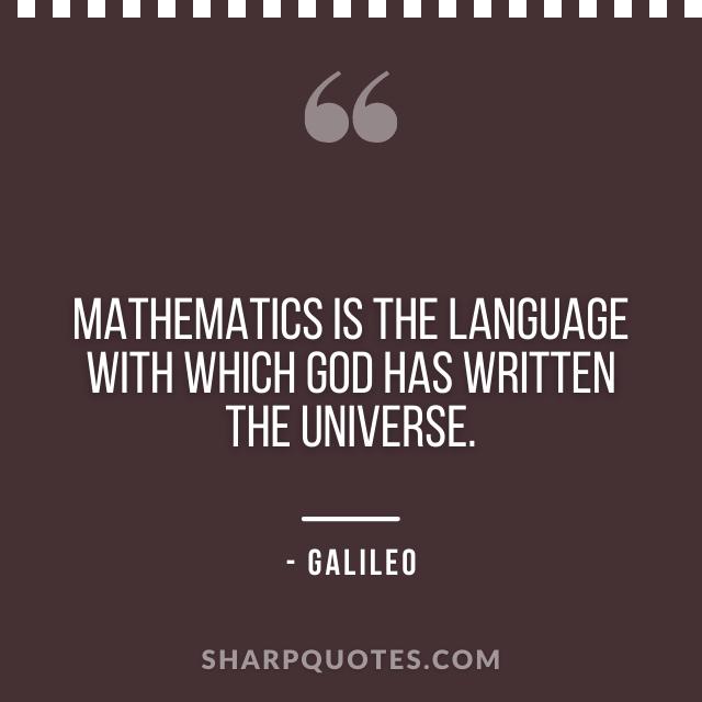 mathematics quotes galileo