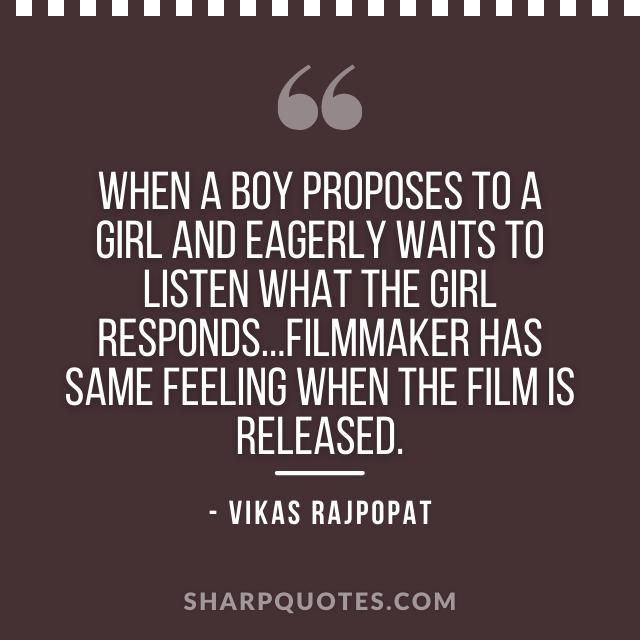 boy propose quote vikas rajpopat